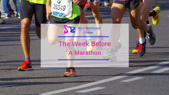 The Week Before A Marathon | Steve Bonthrone Fitness